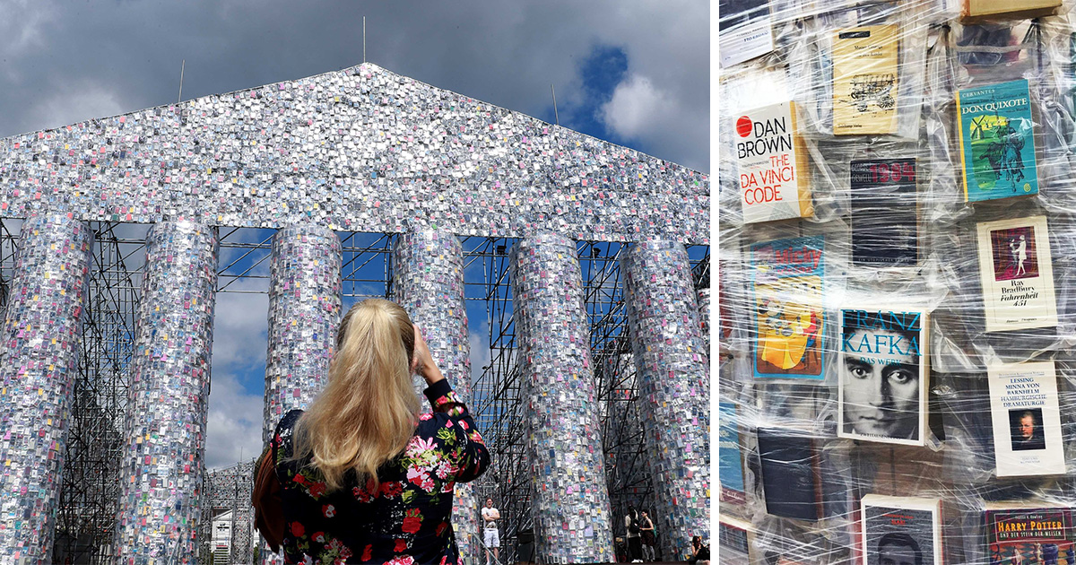 Calling All Bookworms An Artist Has Built A Temple Made Out Of