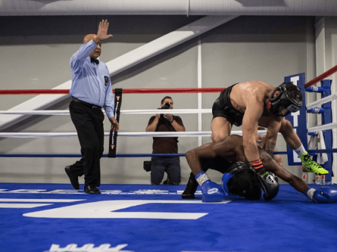 Conor McGregor knocks down sparring partner ahead of Floyd Mayweather showdown