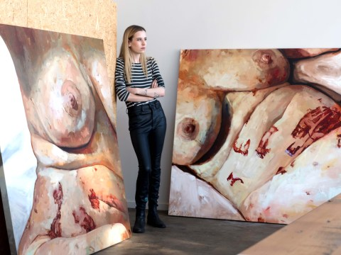 Meet the artist painting the reality of living with endometriosis