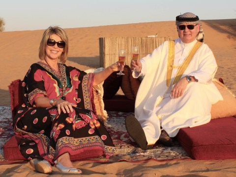 Eamonn Holmes and Ruth Langsford carted off downtown in style by Dubai police for their new show