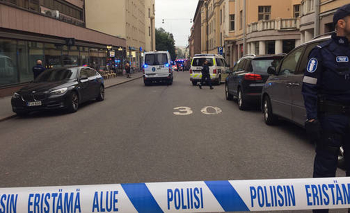 One dead and others hurt after man drives car into crowd in Helsinki