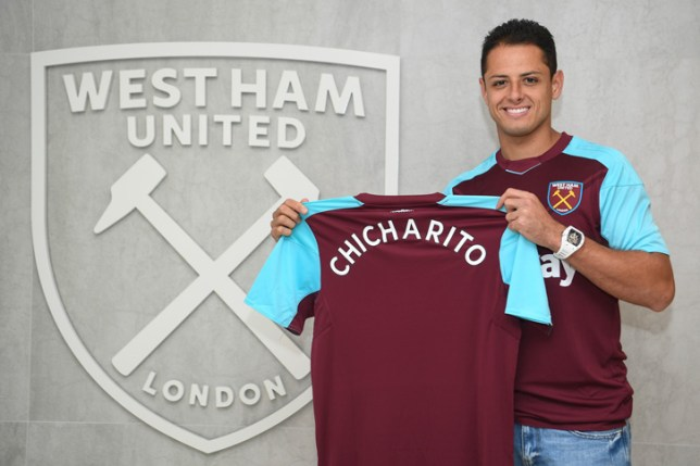 62aaa56d7 Javier Hernandez has completed a £16m move to West Ham (Picture  whufc.com)