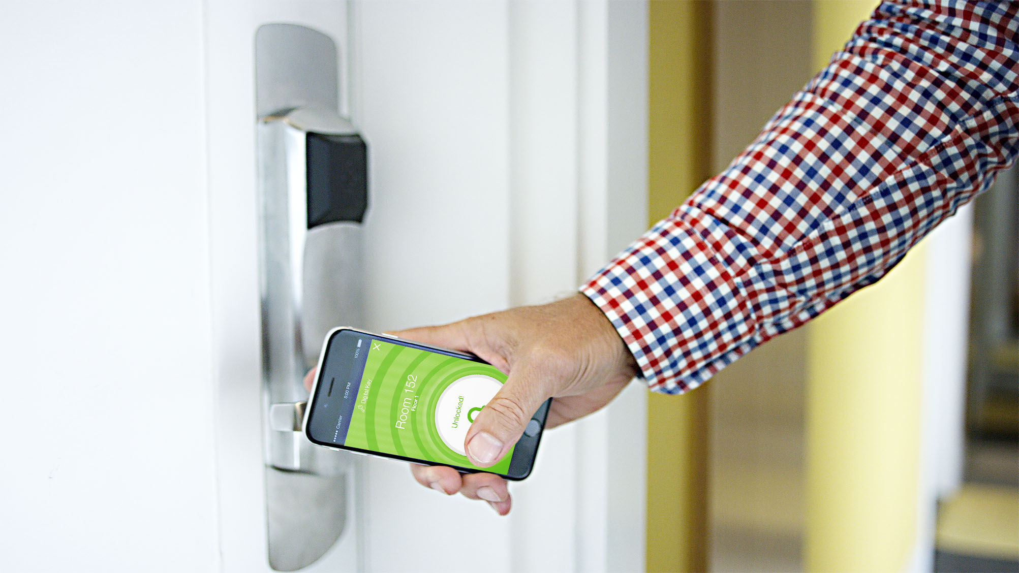 You could soon open your hotel room with your phone