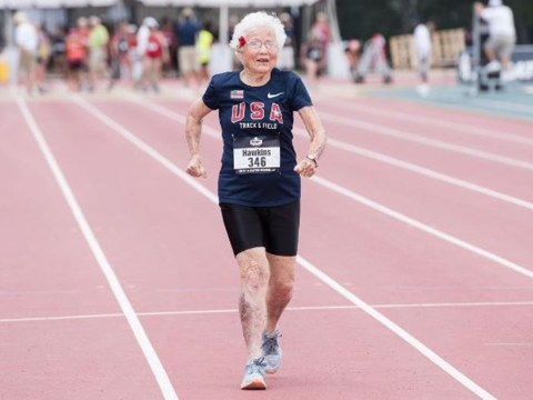 Watch moment 101-year-old smashes record for 100m sprint