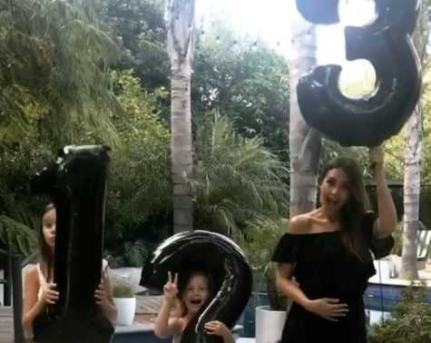 'We're going to be outnumbered!' Jessica Alba uses balloons to announce she's expecting baby number three