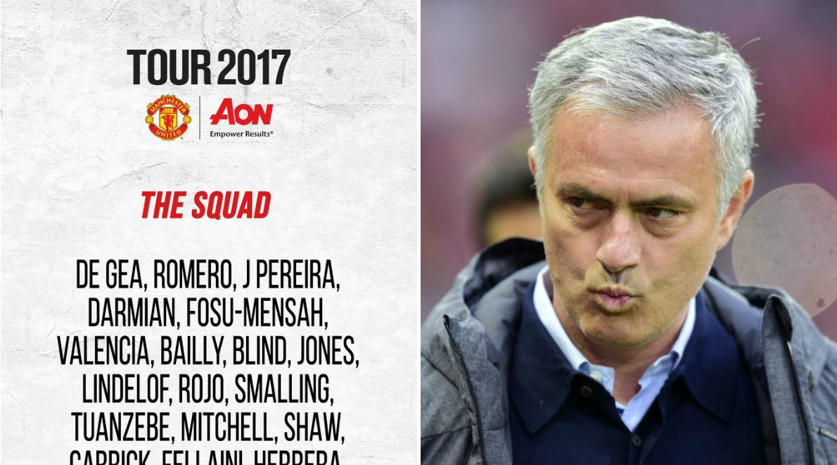 No Romelu Lukaku or Adnan Januzaj in Manchester United's 27-man pre-season tour squad