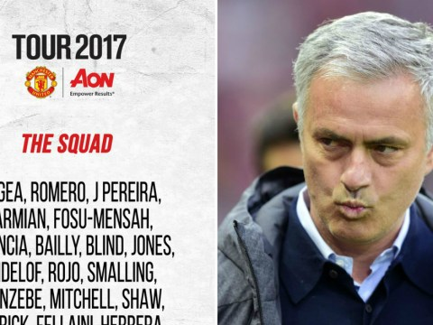 No Romelu Lukaku or Adnan Januzaj in Manchester United's 27-man pre-season tour squad