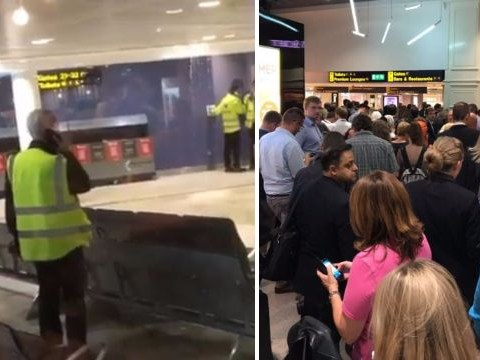 Manchester Airport evacuated after water starts pouring through roof