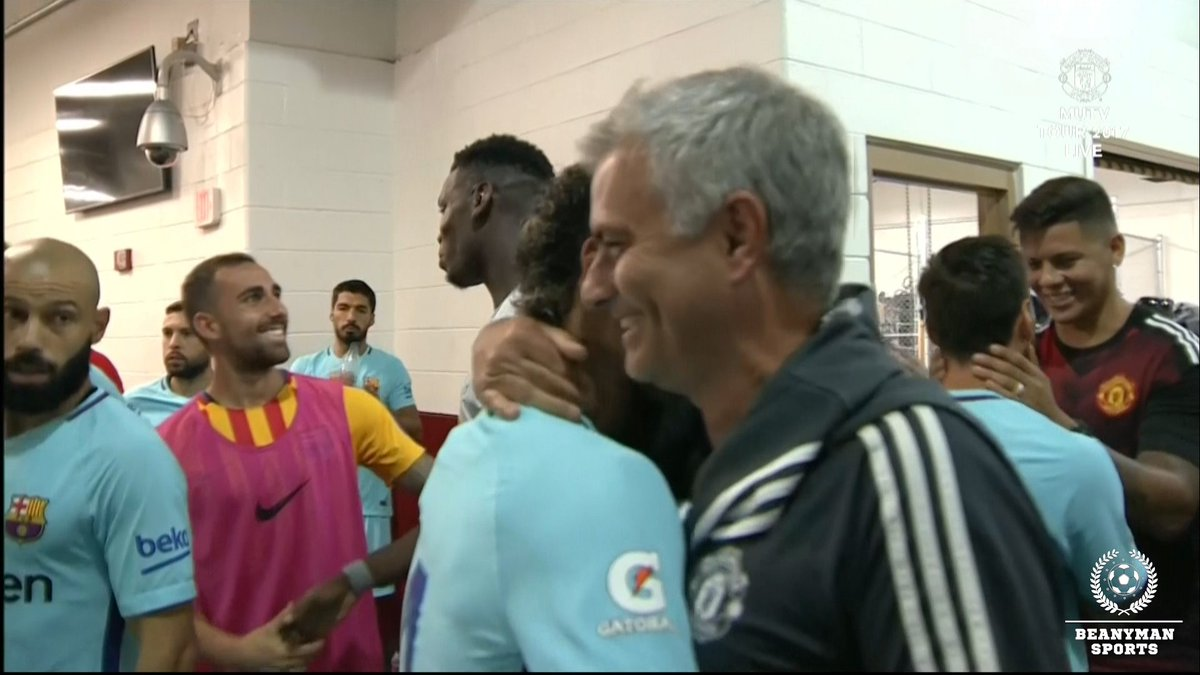Jose Mourinho discusses Neymar transfer after pre-match tunnel embrace with Barcelona star