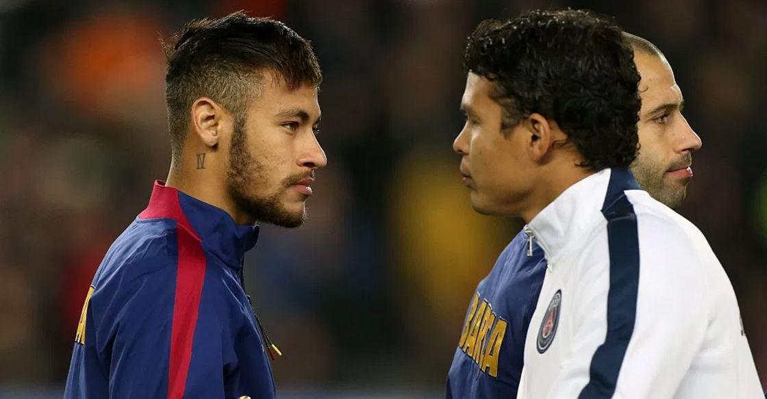 Thiago Silva fuels speculation Neymar is set to join him at Paris Saint-Germain