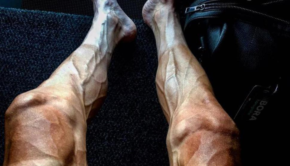 Tour de France rider posts incredible photo of his vascular legs after 16 stages
