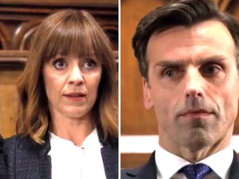 Emmerdale spoilers: Video preview reveals Pierce Harris and Rhona Goskirk rape trial drama