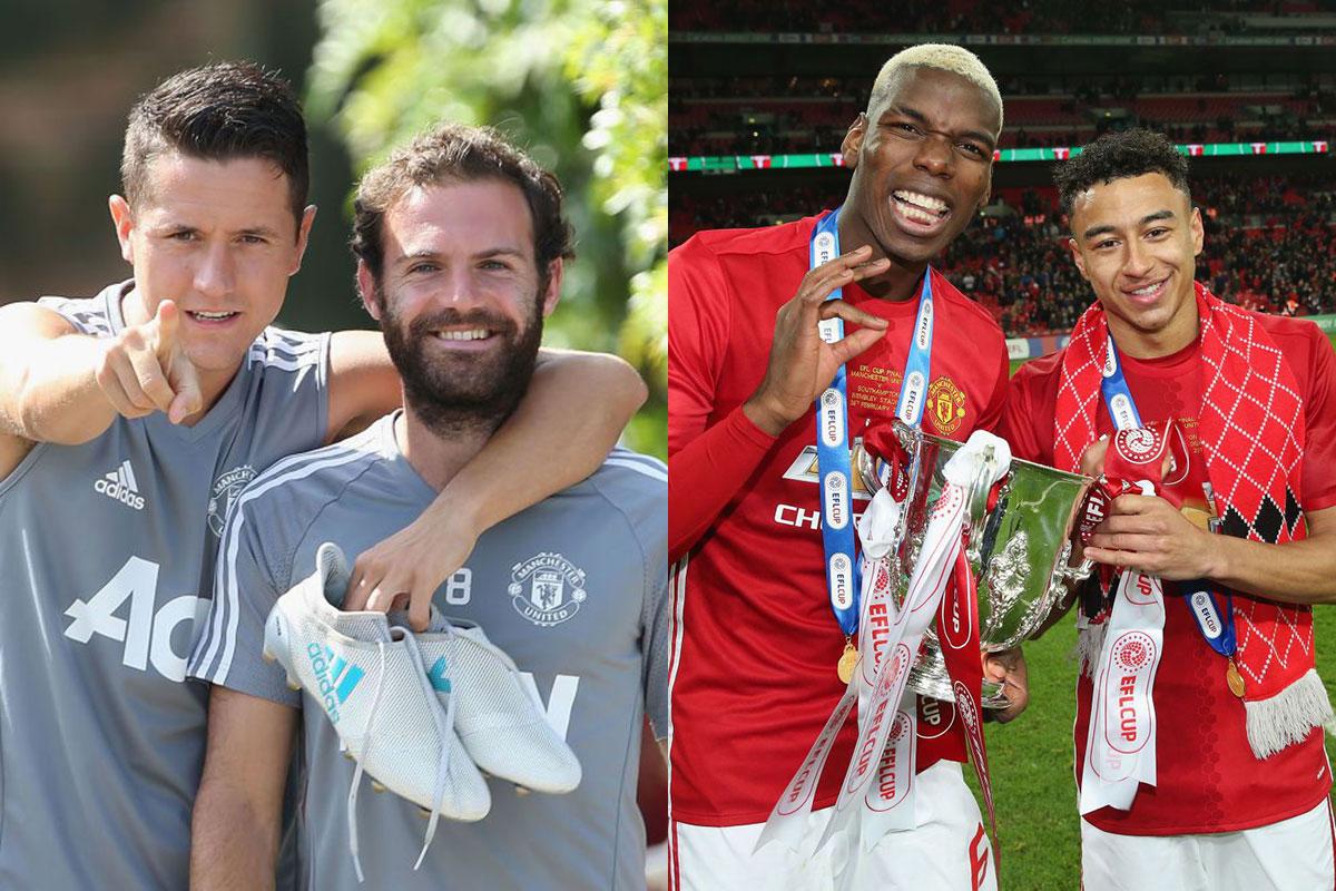 Juan Mata and Ander Herrera in cheeky dig at Manchester United team-mates Paul Pogba and Jesse Lingard