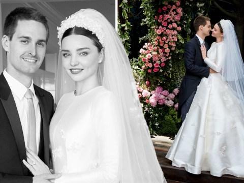 Miranda Kerr shares stunning wedding photos of custom-made Dior gown