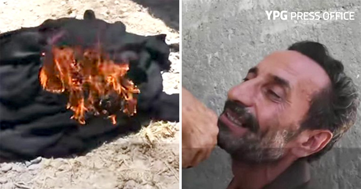 Women burn burqas and men shave off beards as they escape ISIS