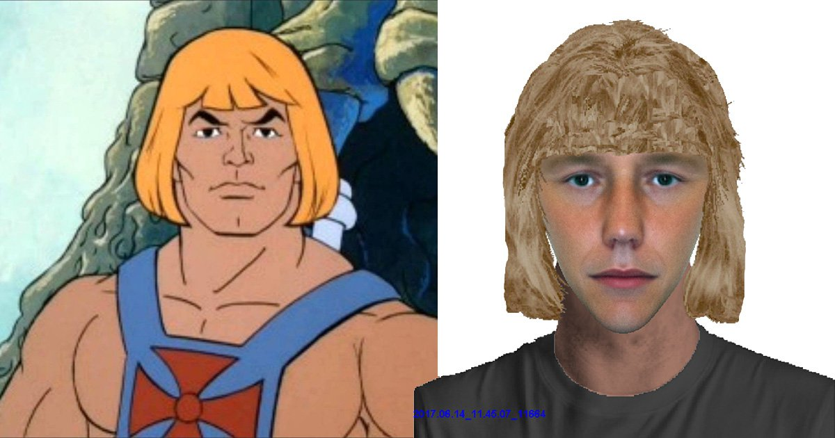 E-fit photo of robbery suspect who 'looks like He-Man' mocked mercilessly