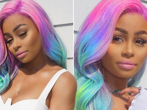 Rob Kardashian drama doesn't stop Blac Chyna from slaying with a rainbow wig