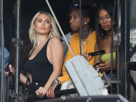 Kylie Jenner's ex Tyga spotted with Kylie Jenner look-a-like at Wireless Festival