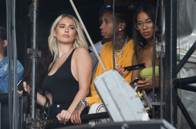 27cca3636202 Kylie Jenner's ex Tyga spotted with Kylie Jenner look-a-like at Wireless  Festival