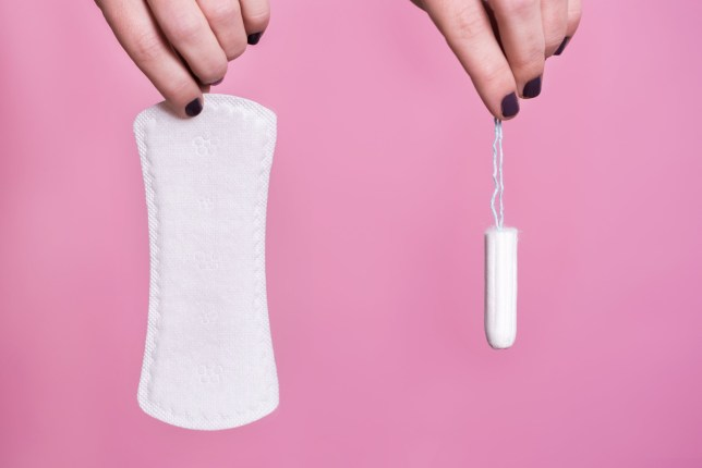 Picture of pad and tampon