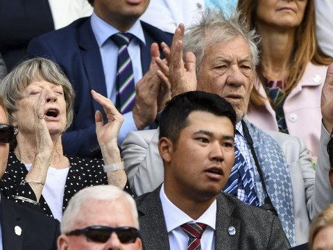 Sir Ian McKellen and Dame Maggie Smith spotted having a great time at Wimbledon