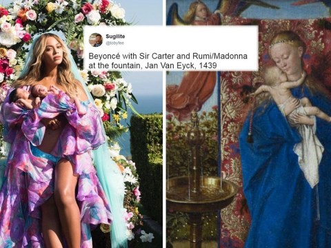 Beyonce fans liken her to a work of art after singer shares viral photo of twins