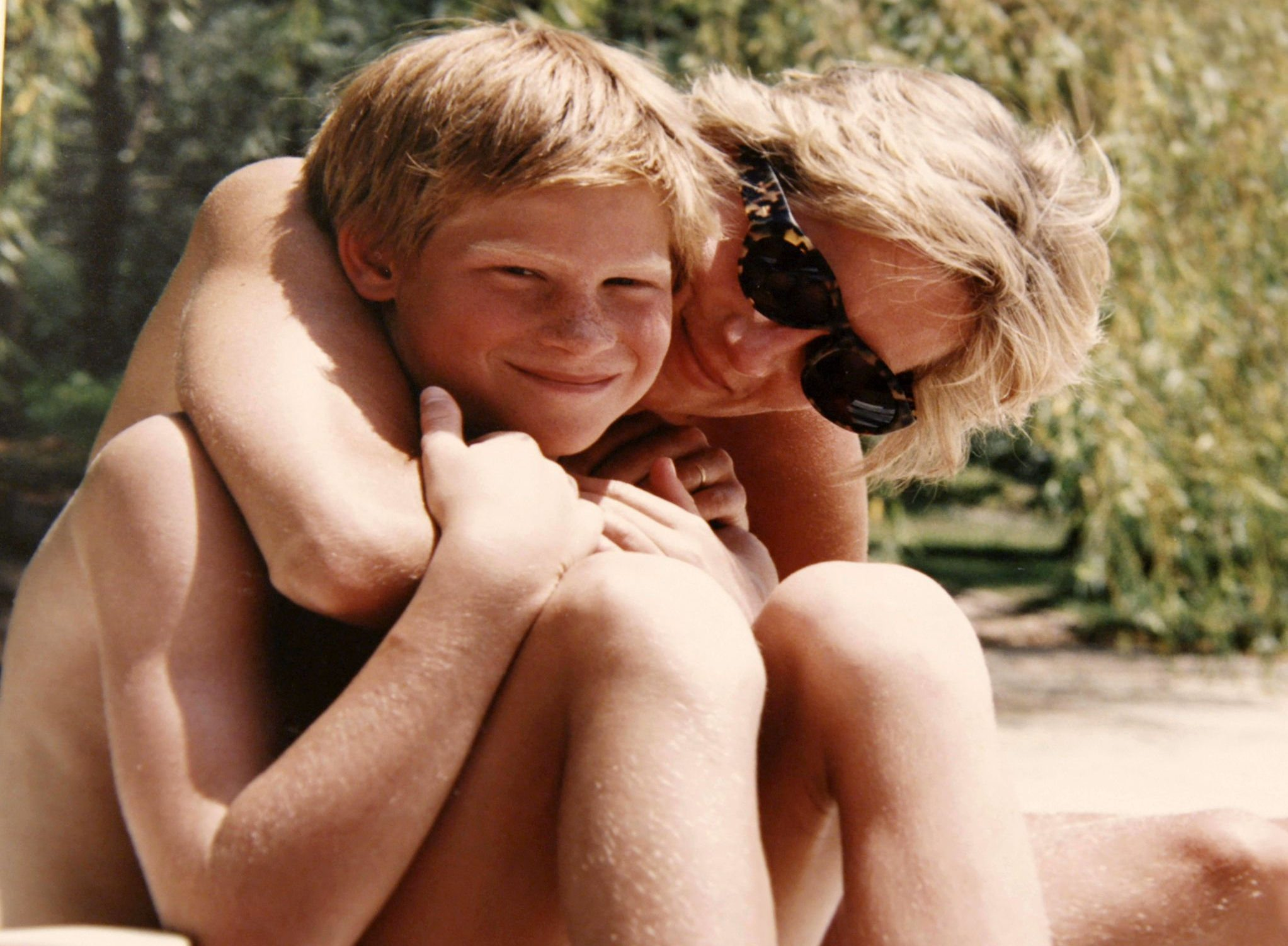 Prince Harry shown one of the last ever pictures of him with his mother