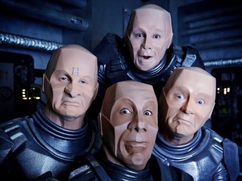 First look at Red Dwarf as Craig Charles reveals 'uncomfortable' mechanoid transformation: 'I was sweating through my eyes'