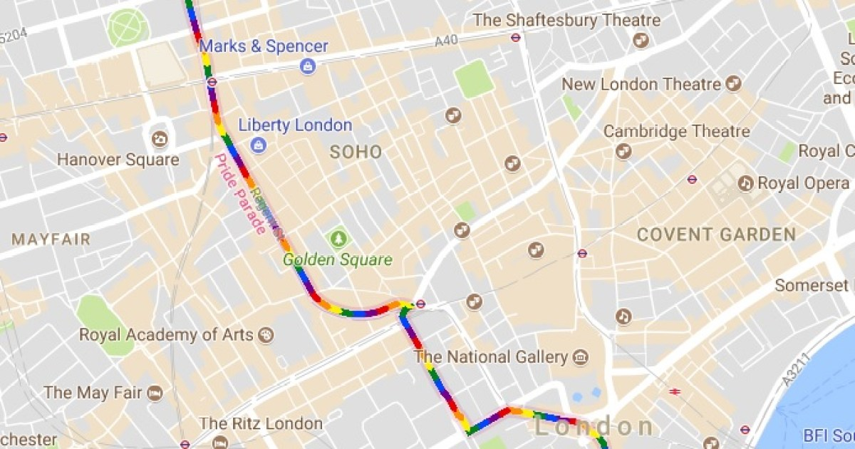 Google Maps marks LGBT Pride in London Parade 2017 with ... on ipad maps, android maps, topographic maps, goolge maps, gogole maps, microsoft maps, googlr maps, googie maps, gppgle maps, stanford university maps, aeronautical maps, road map usa states maps, aerial maps, bing maps, search maps, msn maps, amazon fire phone maps, waze maps, online maps, iphone maps,