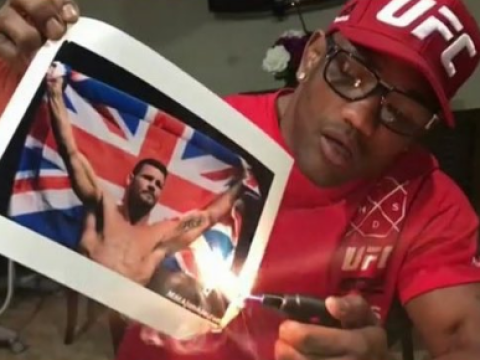 UFC star Michael Bisping laughs off Yoel Romero burning picture of him with UK flag
