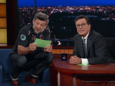 Andy Serkis reads out Donald Trump's tweets in the style of Gollum on Colbert and it's 'precious'
