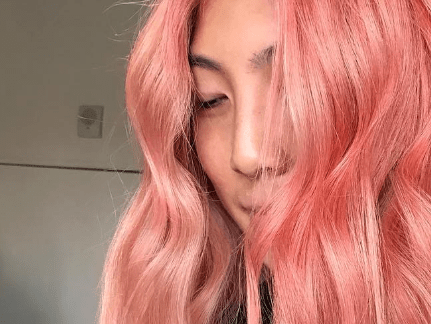This summer's latest hair trend is sushi-inspired salmon pink