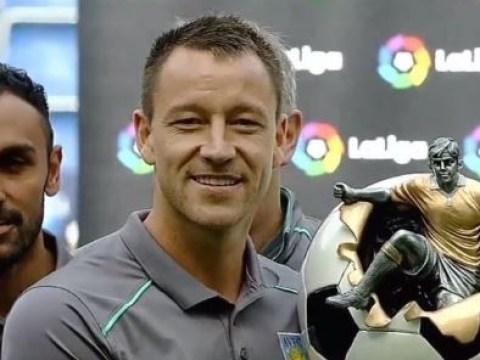 John Terry has already won a trophy with Aston Villa – but it looks bizarre