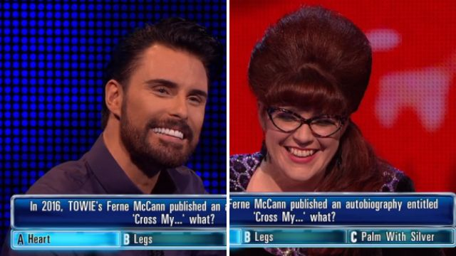 Rylan Clark-Neal makes everyone laugh on The Chase with cheeky joke about Ferne McCann crossing her legs