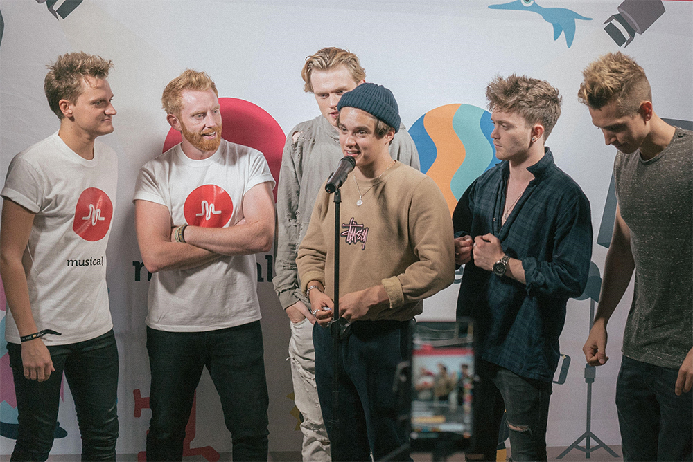 The Vamps team up with musical.ly users for a 'muser mingle' live stream and yep, we feel old too