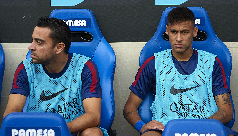Barcelona legend Xavi aims dig at Neymar by praising Lionel Messi and Luis Suarez
