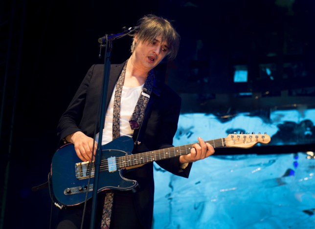 Pete Doherty on stage