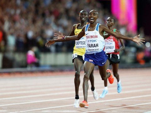 When is Mo Farah running the 5,000m at the 2017 World Athletics Championship?