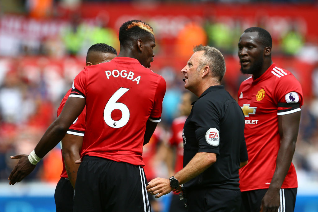 Manchester United fans blame Romelu Lukaku's first touch for Paul Pogba's close call with dismissal