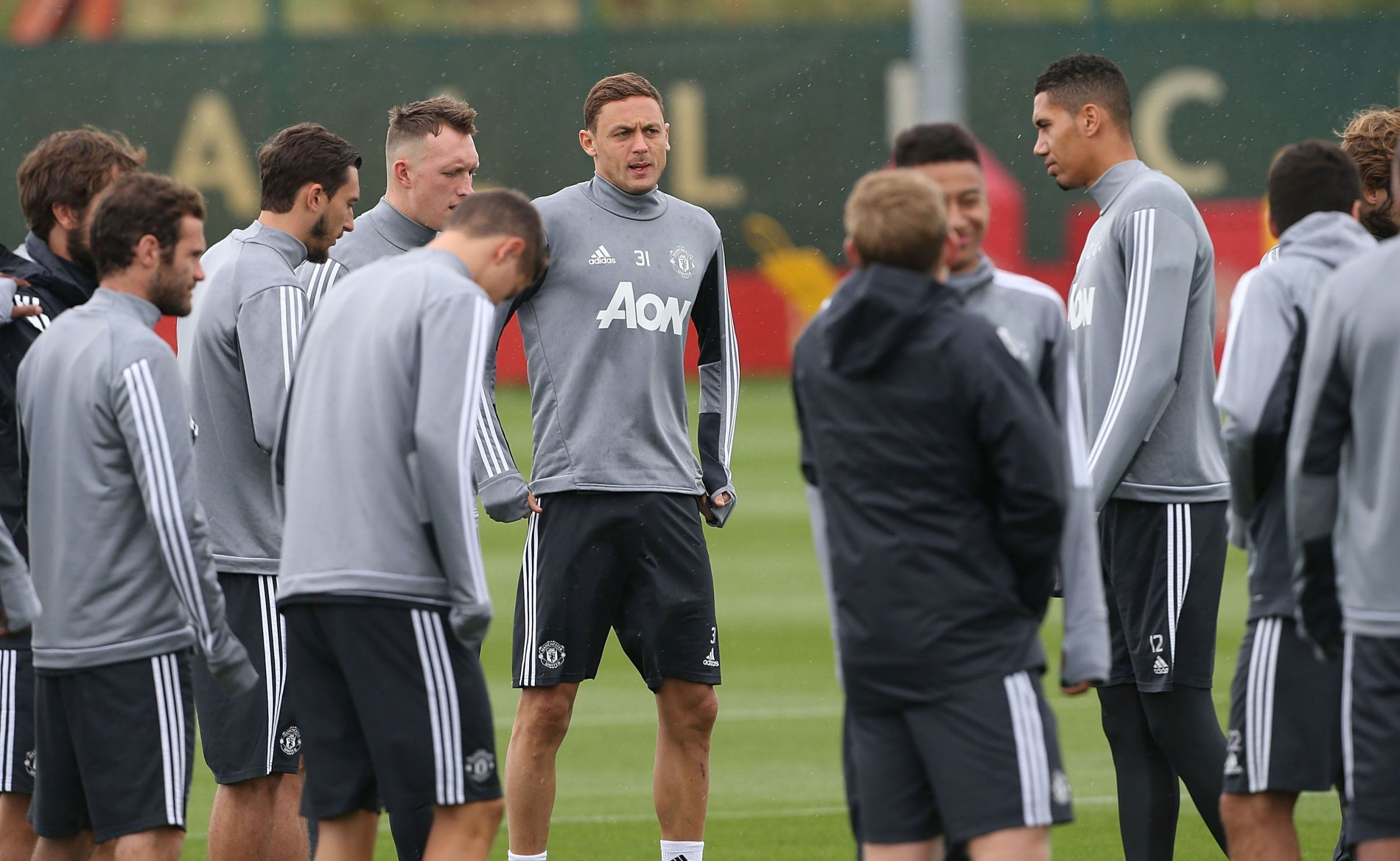 MANCHESTER, ENGLAND - AUGUST 01: (EXCLUSIVE COVERAGE) Nemanja Matic of Manchester United during a first team training session at Aon Training Complex on August 1, 2017 in Manchester, England. (Photo by John Peters/Man Utd via Getty Images)