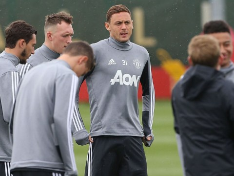 Nemanja Matic pictured in Manchester United training for first time since Chelsea transfer