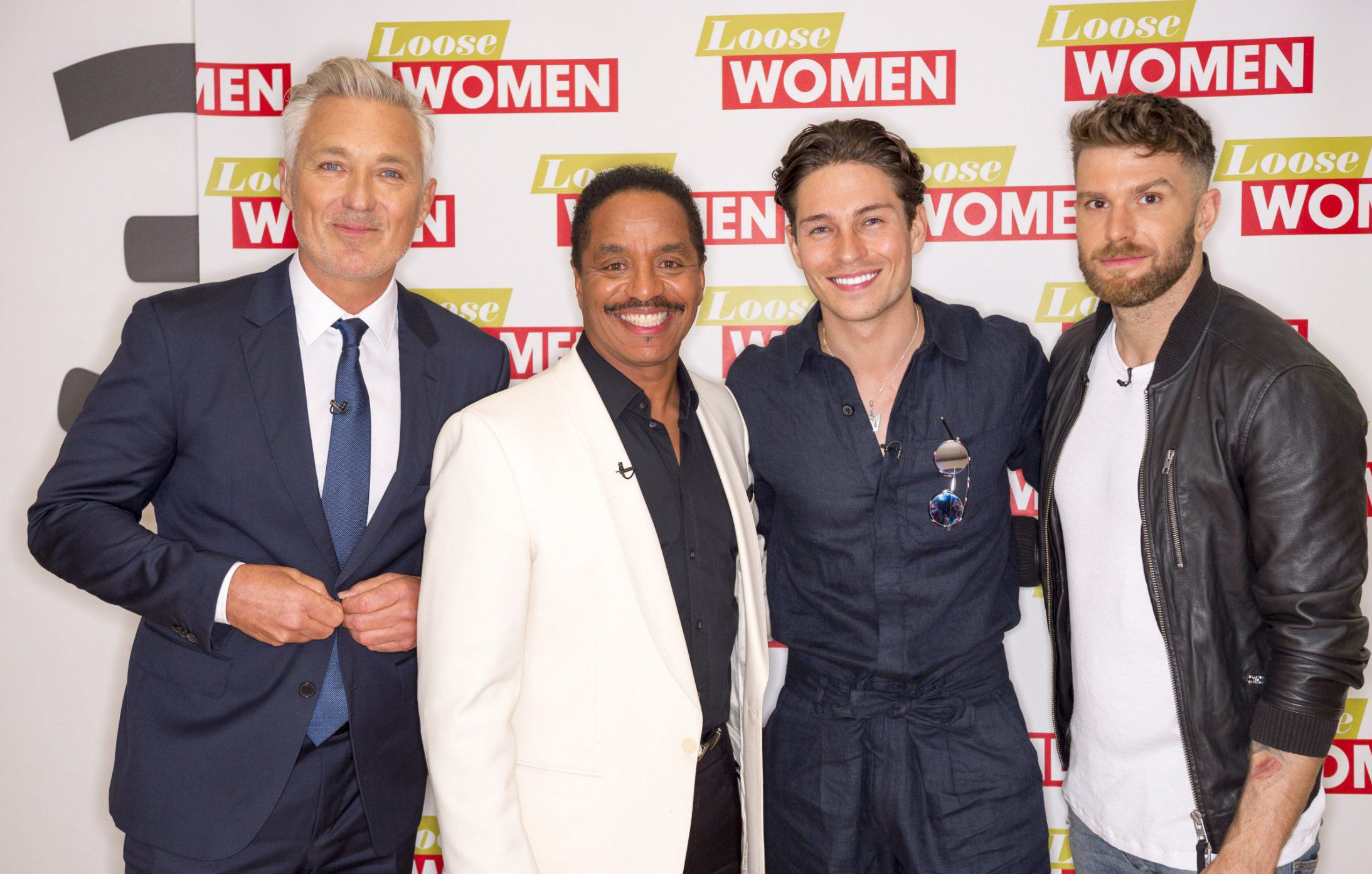 EDITORIAL USE ONLY. NO MERCHANDISING - EMBARGOED UNTIL 00.01 26th August 2017 UK TIME Mandatory Credit: Photo by Ken McKay/ITV/REX/Shutterstock (9026644ed) Martin Kemp, Marlon Jackson, Joey Essex and Joel Dommett 'Loose Women' TV show, London, UK - 28 Aug 2017 Loose Women & Mens extended Bank Holiday special gets lively as the male guests complete challenges in order to avoid some awkward confessions. Martin Kemp joins the show with Joel Dommett, Marlon Jackson and Joey Essex alongside Andrea McLean, Nadia Sawalha, Stacey Solomon and Katie Price. In a revamped version of truth or dare, entitled Roll the Dice or Pay the Price, Joey is asked to reveal who he fancied most from previous dates: Stephanie Pratt, Amy Willerton and Sam Faiers. A squirming Joey chooses a dare instead, in which he must pie the most annoying panellist of the day. The cheeky TV star opts for a shell-shocked Andrea who is quick to pie him back. Plus, Martin volunteers to down a glass of pureed fish rather than admit to how many women he bedded during his early days in the band. Meanwhile, Stacey discusses boyfriend Joe Swashs abilities in the bedroom and Katie admitting she regrets missing out on wild single nights out. The men discuss mental health issues and whether therapy is a good idea