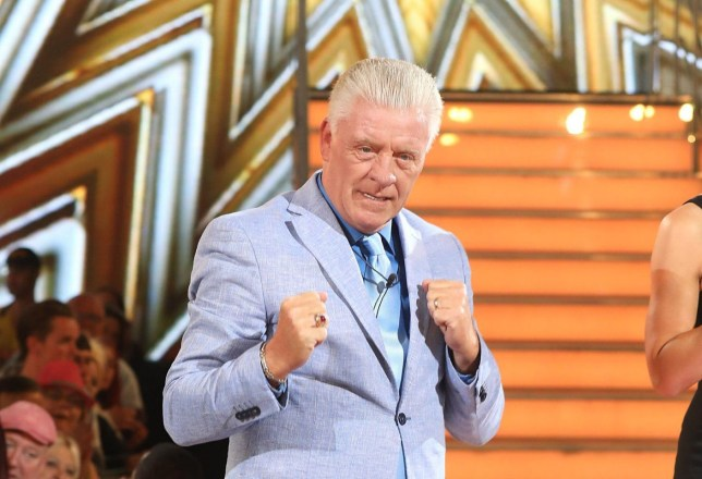 BOREHAMWOOD, ENGLAND - AUGUST 25: Derek Acorah leaves the house after being evicted during the Celebrity Big Brother Final at Elstree Studios on August 25, 2017 in Borehamwood, England. (Photo by Tim P. Whitby/Tim P. Whitby/Getty Images)
