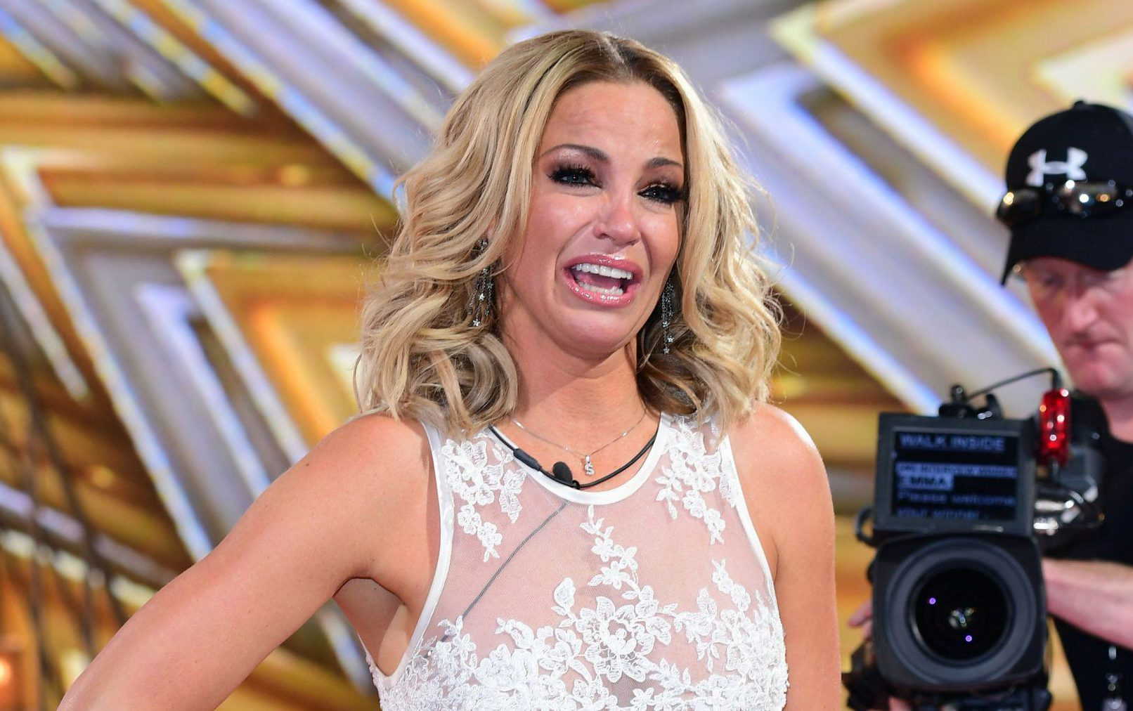 Sarah Harding reacts to winning during the live final of Celebrity Big Brother, at Elstree Studios in Borehamwood, Hertfordshire. PRESS ASSOCIATION Photo. Picture date: Friday August 25, 2017. Photo credit should read: Ian West/PA Wire.