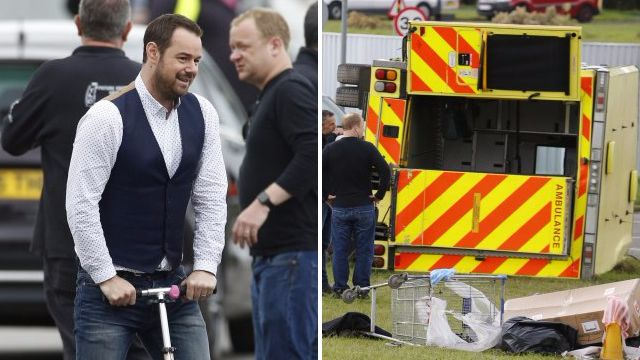 EastEnders spoilers: Danny Dyer has a whale of a time while filming huge September crash stunt