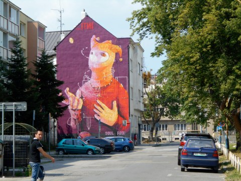 Amazing street art in Kosice: Slovakia's city of culture