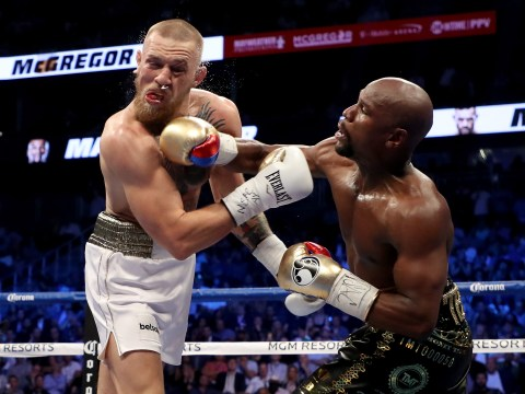 Floyd Mayweather stops Conor McGregor in tenth round of super-fight in Las Vegas