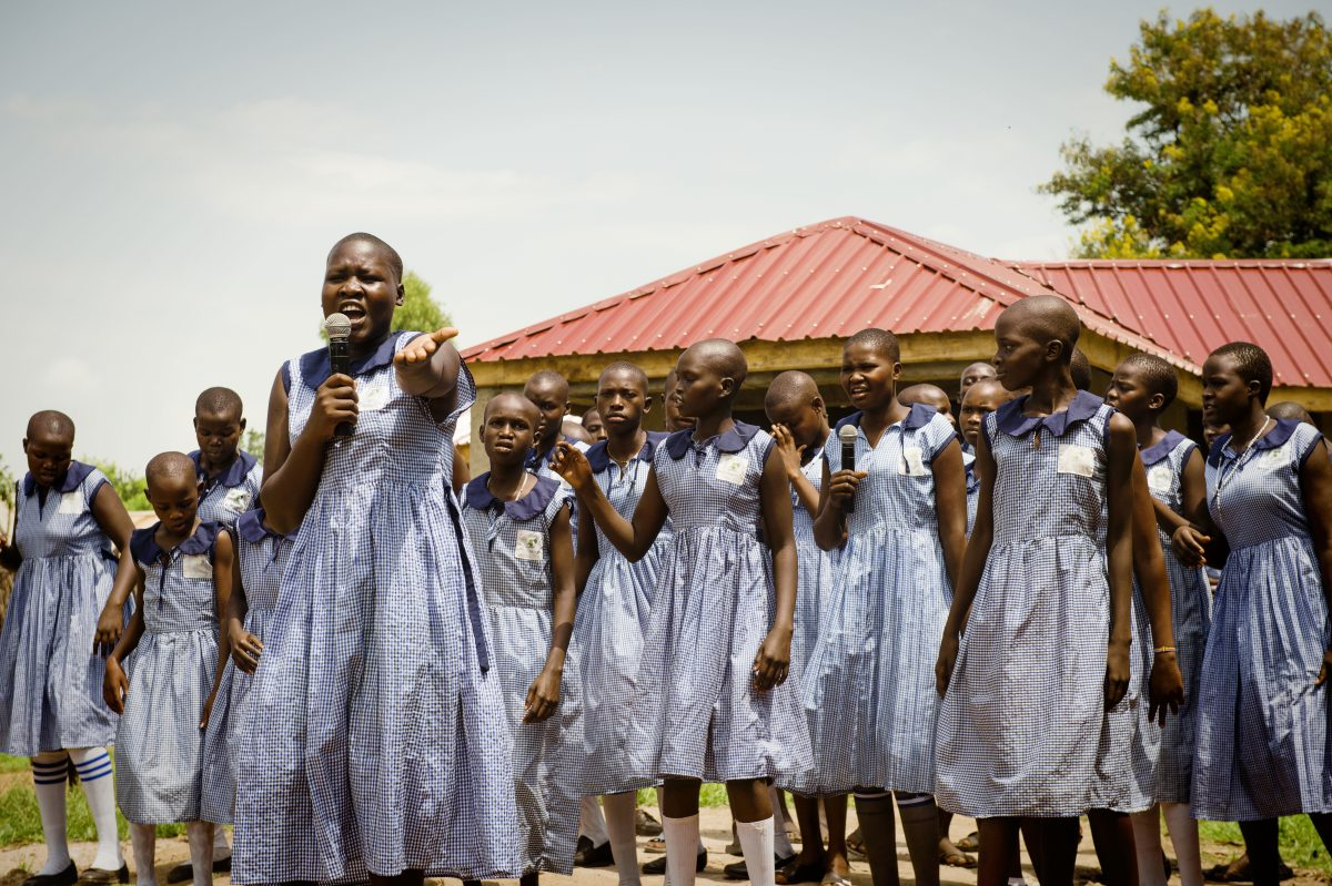 A group of teenagers in Uganda are singing about their periods to smash the taboo for their classmates