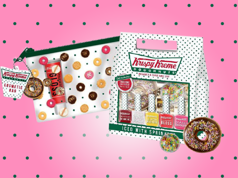 Krispy Kreme has launched its own line of beauty essentials and we want it all
