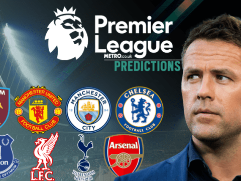 Michael Owen's Premier League predictions, including Liverpool v Arsenal and Manchester United v Leicester City